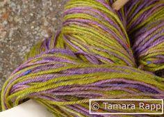ProvenceSeries 2 - Tweed-Sockenwolle handgefärbt - ein Designerstück von HerzKoenigin bei DaWanda