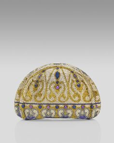 Grand Duchess Crystal Minaudiere by Judith Leiber at Bergdorf Goodman.