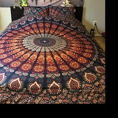 Hippie Bohemian Indian Mandala Tapestry Wall Hanging Bedspread   Etsy Bohemian Dorm, Bohemian Bedspread, Hippie Bohemian, Mandala Print, Mandala Tapestry, Mandala Curtains, Sun And Moon Tapestry, Tapestry Bedding, Indian Mandala