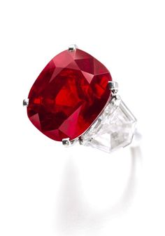 25.59 cts Sunrise Ruby Ring by Cartier