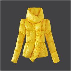 Günstige Moncler Frauen Daunenmantel Yellow Outlet M1006 Moncler outlet Neu