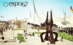 Expo 67 Pavilion of Federal Republic of Germany Montreal, Canada Original Vintage Postcard for Like the Expo 67 Pavilion of Federal Republic of Germany Montreal, Canada Original Vintage Postcard? Expo 67 Montreal, Montreal Ville, Montreal Canada, Montreal Quebec, Buckminster Fuller, Frank Gehry, Famous Sculptures, The Jetsons, World's Fair