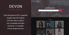 Buy Devon - Model Agency Directory HTML Theme by listingthemes on ThemeForest. WordPress version available here Devon – Directory listings theme for models/actors, designed to create amazing exper. Devon, All Popular, Html Website Templates, Perfect Model, Models, Model Agency, Language, Retail, Design Ideas