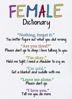 "So true :) For me it's especially the ""I'm okay"" and ""I love you."""
