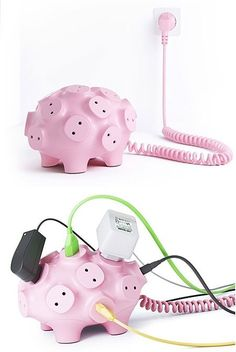 Funny pictures about Power strip pig. Oh, and cool pics about Power strip pig. Also, Power strip pig photos. Gadgets And Gizmos, Geek Gadgets, Objet Wtf, Cool Things To Buy, Good Things, Awesome Things, Accessoires Iphone, Cool Inventions, Decoration Design