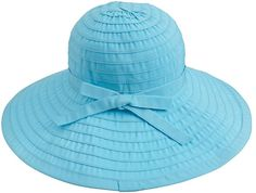 Simplicity Women's Summer UPF 50+ Roll Up Floppy Beach Hat with Ribbon Chocolate at Amazon Women's Clothing store: