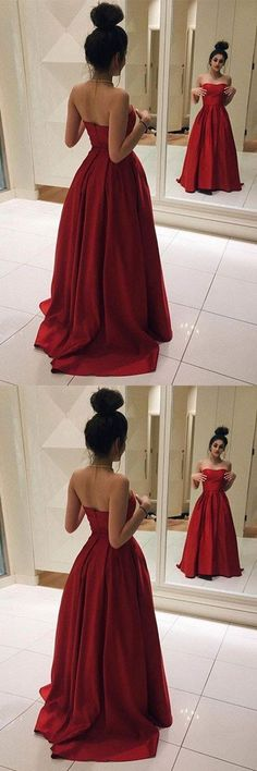 Custom Made Red Prom Dress, Sweetheart Evening Dress, Charming Floor Length Party Gown, Sleeveless Prom Dress High Quality