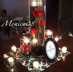 Can even do this instead of table runners and just use a table runner for the sweetheart table!
