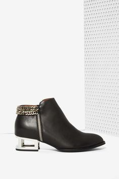Jeffrey Campbell Remus Leather Bootie - Shoes | Flats | Ankle | Jeffrey Campbell