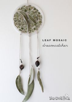 leaf mosaic dream catcher