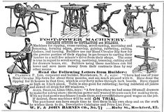 Treadle Powered Machines | Pedal-powered Woodworking Machines - Popular Woodworking Magazine