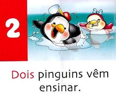 Pra Gente Miúda: Números e Poesia: Pinguins Disney Characters, Fictional Characters, Image, Atv, Kids Activity Ideas, Poetry For Kids, Wall Posters, Homeschool, Pansy Flower