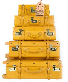 Bright yellow luggage