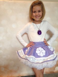 """Disney Princess Sofia the first inspired """"grow with me"""" apron/dress…. Disney Girls, Disney Princess, Baby Doll Strollers, Baby Disney Characters, Princess Sofia The First, Baby Dolls For Kids, Princess Theme Party, Sofia Party, Apron Dress"""
