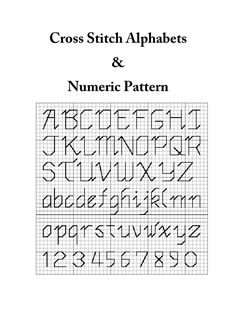 Consist of a 1 page cross stitch alphabets & numeric pattern