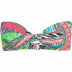 FULL TILT Mixed Media Bikini Top