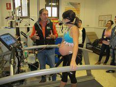 Seguimiento de ejercicios durante el embarazo. Foto: UGR.