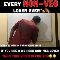 "From @ashish_chanchlani_vines Here is a video for EVERY NON-VEG LOVER EVER!!! yes we all know that one irritating non-vegetarian in every group that debates with vegetarians or is hell bent on making every vegetarian taste non-Veg this video is for them SHARE THIS VIDEO IF YOU ARE A DIE HARD NON-VEG LOVER TAG ALL THOSE DIE HARD NON-VEG LOVERS ALSO TAG ALL  VEGETARIANS AND TELL THEM ""Chicken khaa naa"" Co starring : @kunal_chhabhria  @akashdodeja @sim_dhanwani @tanish_sirwani…"