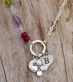 Mothers Birthstone Necklace In Sterling Silver Personalized by Nelle and Lizzy... i love #nelleandlizzy !!