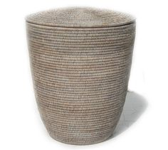 V808W Laundry Basket with rattan