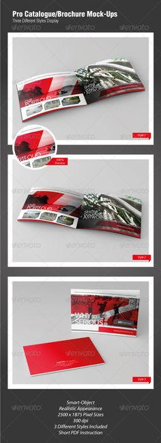 Buy Pro Catalogue/Brochure Mock-Ups by Juntravolta on GraphicRiver. In this item have three different styles pro Cataloge/Brochure Mock-Ups, very easy and simple to use this, just doubl. Event Flyer Templates, Mockup Templates, Print Templates, Presentation Templates, Mockup Photoshop, Pixel Size, Graphic Design Templates, Catalogue, Best Graphics