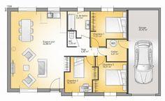 Plan maison neuve à construire - Maisons France Confort Family 92 G