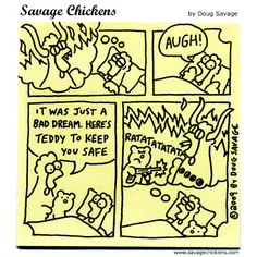 Savage Chickens - Teddy Bear