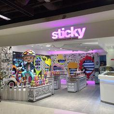 New Sticky in Kota Kinabalu, Malaysia.  #candy #store #beautiful #design #retail