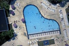 Theme Motel with Piano Pool ~ Orlando, Florida.  Photo by Alex S. Maclean.