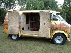 1976 Dodge Custom Van unrestored, via Flickr.