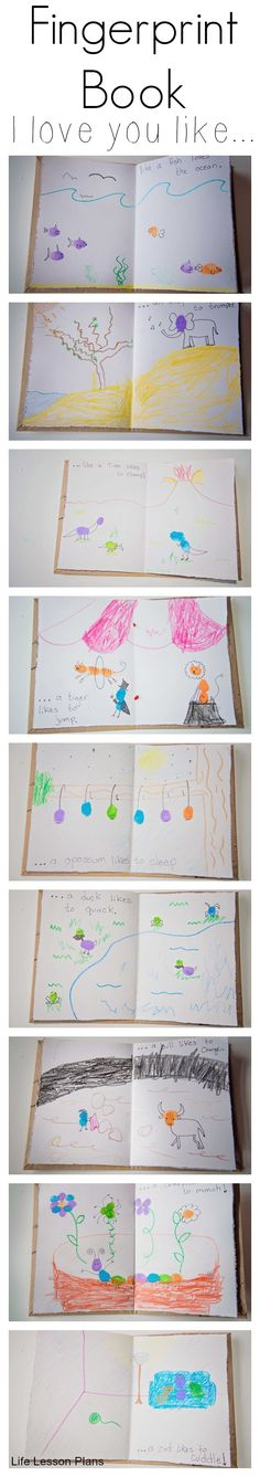 Use your childs fingerprints to make a book about how much he/she is loved!