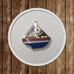 1 Boat Floating Charm memory locket  8.8mmx8.6mm by GCFindings