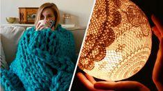 8 Ways to Create a Cozy Home de kaarsen in theekopje vind ik nog een leuk idee Diy Videos, Craft Videos, Buzzfeed Nifty, Home Crafts, Diy And Crafts, No Sew Blankets, Bunny Blanket, Living At Home, Fashion Sewing