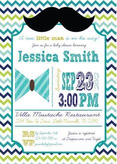 Little Man 2 Baby Shower Invitation  Print by Partyperfectdesign, $10.00