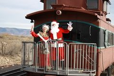 Mr & Mrs. Claus - Verde Canyon Railroad Santa Claus Expess Train