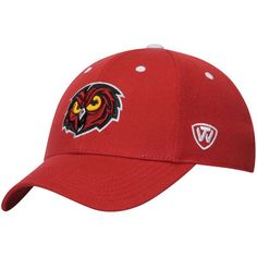 Temple Owls Top of the World Dynasty Memory Fit Fitted Hat - Garnet