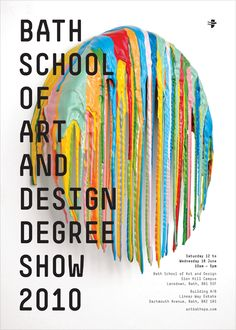 Bath School of Art and Design Degree Show Poster