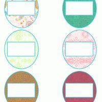 Colorful Can Lid Label. Give a like! #free #printable