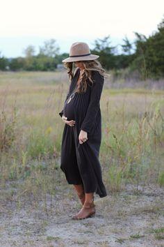 Free People Sophie Dress, Lauren McBride, Fall Maternity Style