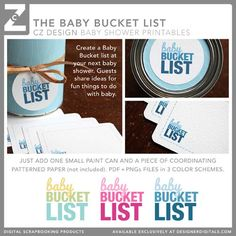 Baby bucket list sharing ideas for things to do with the baby in the