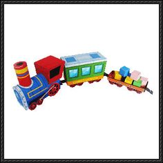 Cute Petit Train Free Paper Toy Download