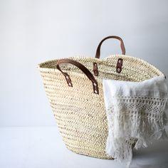 French market basket - flat handle