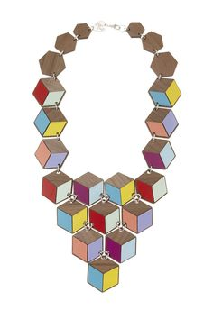 Geometric Statement Necklace, £195: http://www.tattydevine.com/geometric-statement-necklace.html
