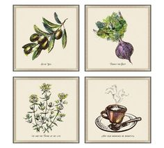 Kitchen Artwork, Kitchen Pics, Kitchen Art Prints, Kitchen Updates, Kitchen Wallpaper, Kitchen Decor, Pottery Barn Kitchen, Hatch Pattern, Blue Tapestry