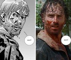 The Walking Dead - comic Rick vs. TV Rick ('Knots Untie)
