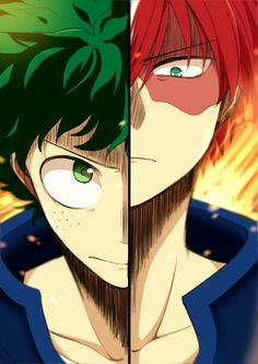 Boku no Hero Academia   Midoriya Izuku & Todoroki Shouto