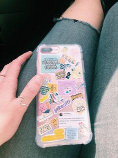 klarer Telefonkasten mit Aufklebern 💕 – Phone case for girls Iphone 7, Coque Iphone, Iphone Phone Cases, Tumblr Phone Case, Diy Phone Case, Diy Case, Laptop Case, Cute Cases, Cute Phone Cases