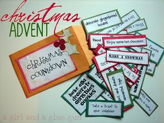 Love all the ideas here.  I want to incorporate this into another advent I have.