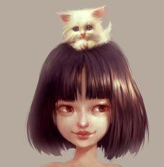 Cat Lover, Ilse Harting on ArtStation at https://www.artstation.com/artwork/cat-lover