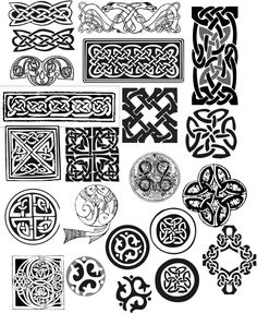 Celtic Knot Samples photo: These are a few of the various Celtic Knots to use for engraving on wood, glass, plastic or T shirt designs This photo was uploaded by waleswoman